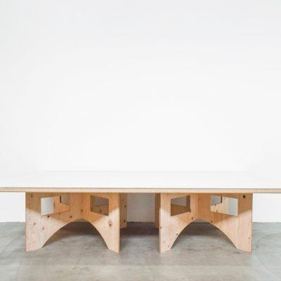 ローテーブル1(天板/大・ホワイト)